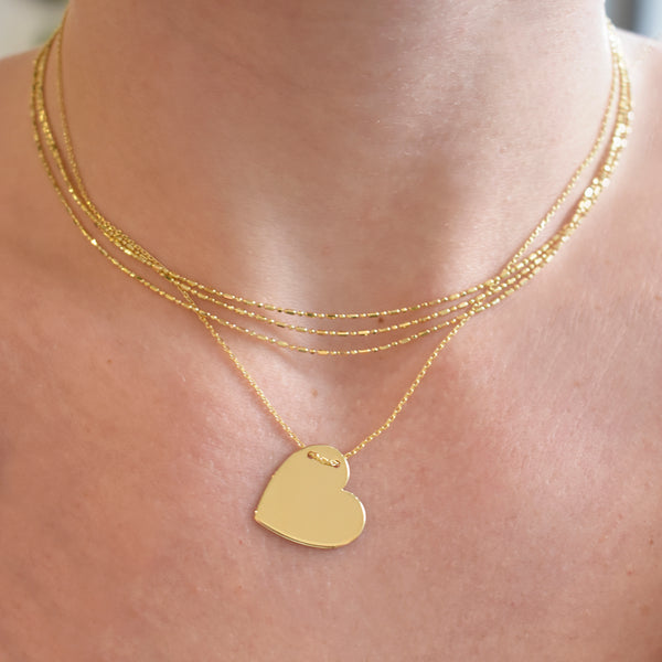 Engravable Heart of Gold Necklace