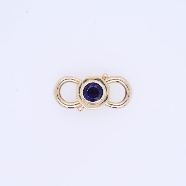 Petite Tanzanite Lock Connection Charm