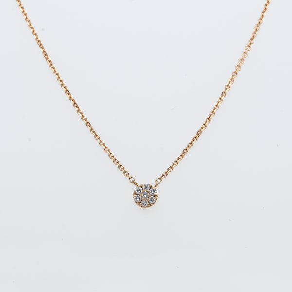 Petite Full Moon Diamond Necklace