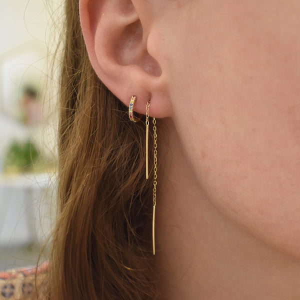 Petite Gold Threader Earrings