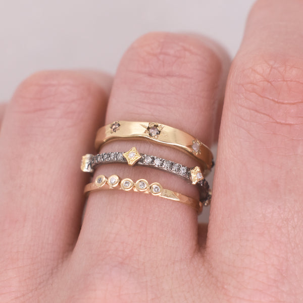 Five Diamond Stack Ring