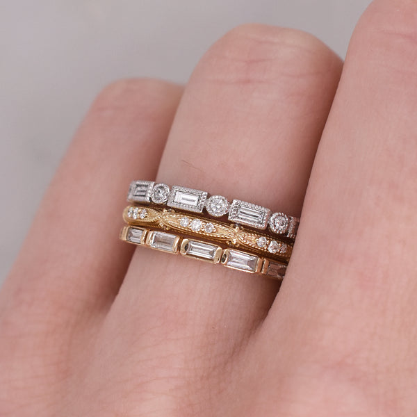 Noble Baguette and Round Brilliant Eternity Band