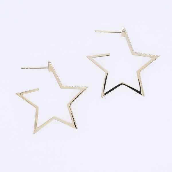 Diamond Star Hoops