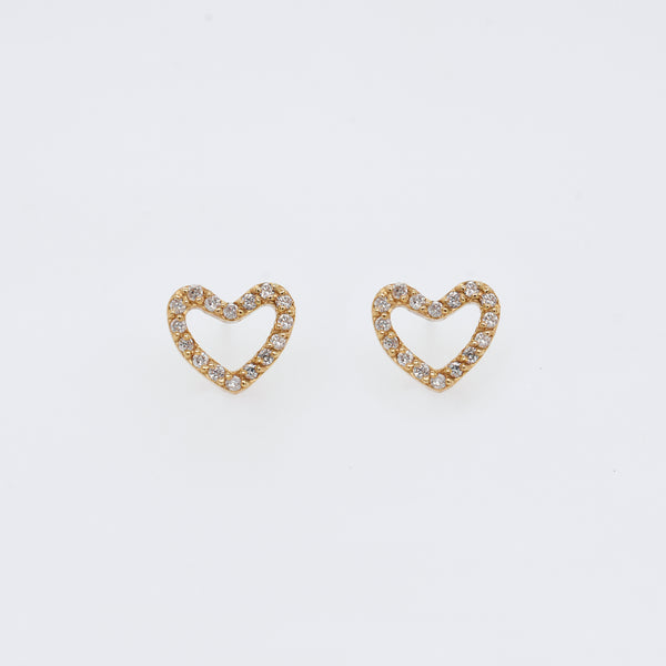 Open Hearts Diamond Studs