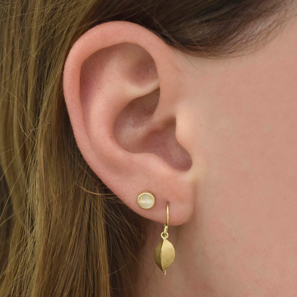 Gold Petite Pod Earrings
