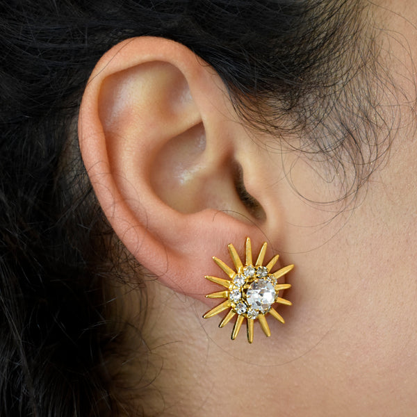 Sunburst Crystal Studs