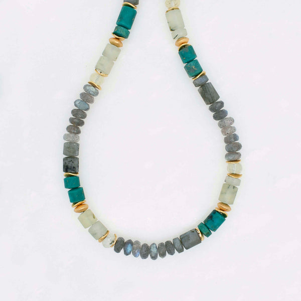 Bold Beaded Gemstone Necklace