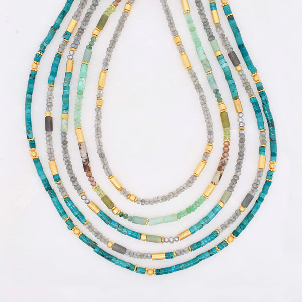Petite Beaded Gemstone Necklace