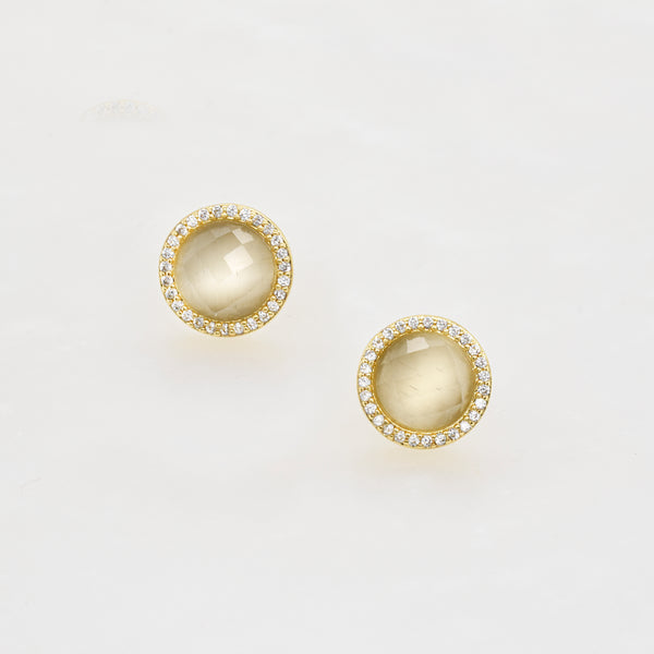 Cats Eye Halo Studs