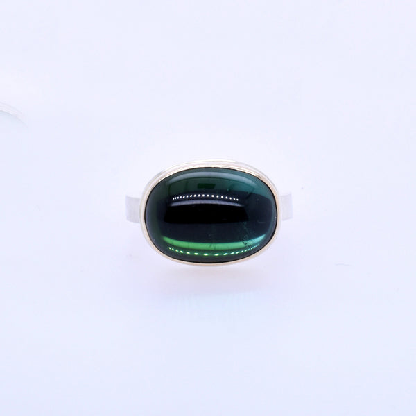 Blue-Green Tourmaline Statement Ring