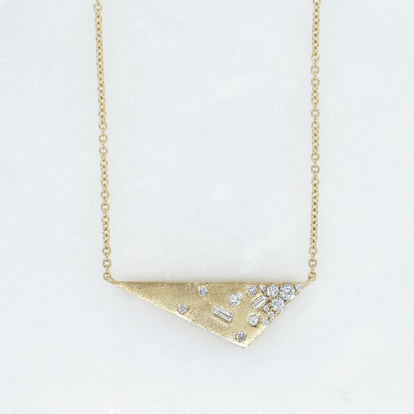 Galaxy Diamond Triangle Necklace