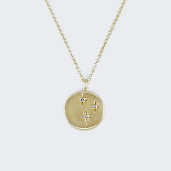 Triple North Star Diamond Necklace