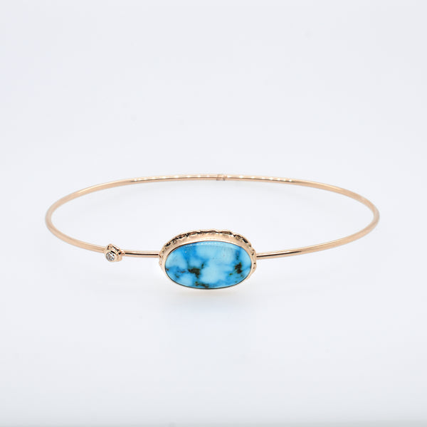 Turquoise Bracelet with Diamond Accent