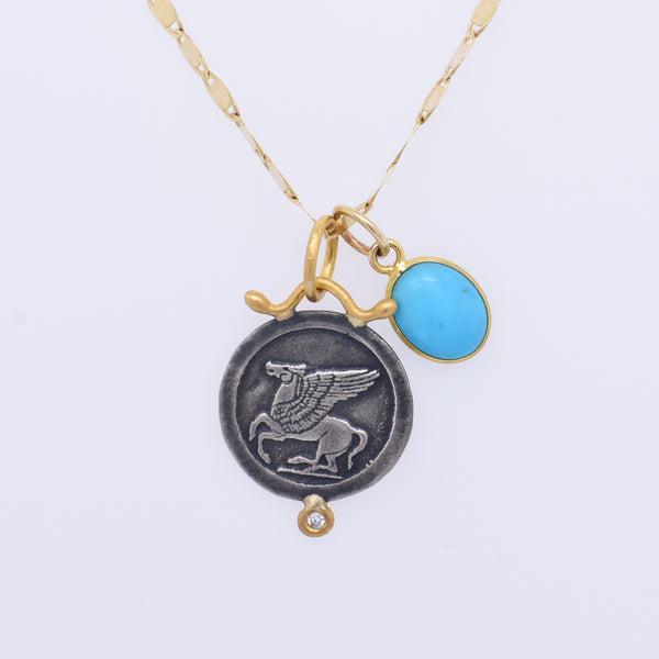 18k Turquoise Protection Charm