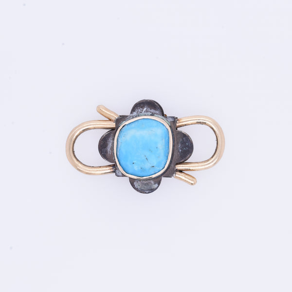 Baroque Turquoise Lock Connection Charm