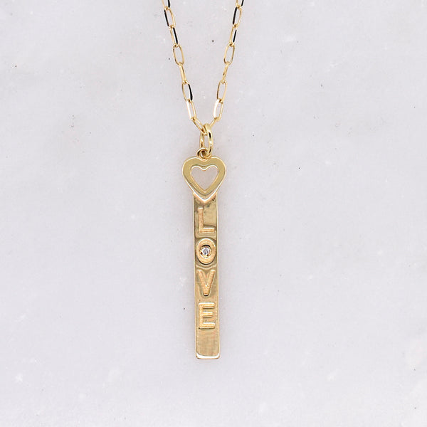 Love Letter with Tiny Heart Charm