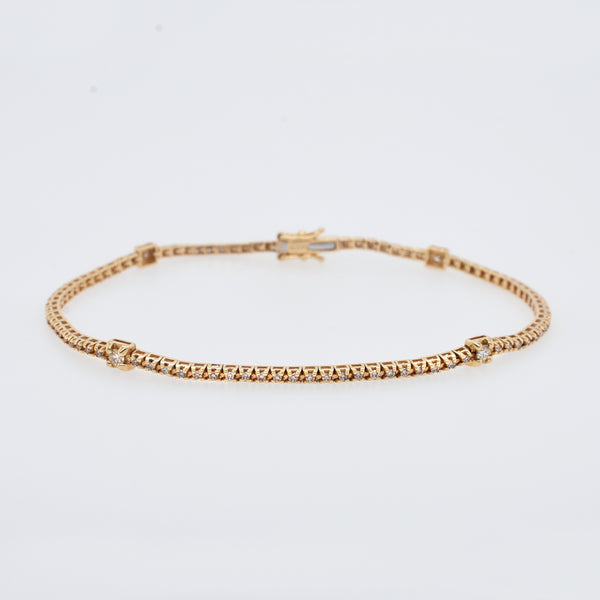 Petite White Diamond Galaxy Tennis Bracelet