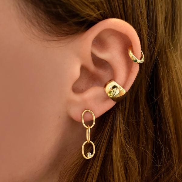 Rounded Wide Gold Ear Cuff