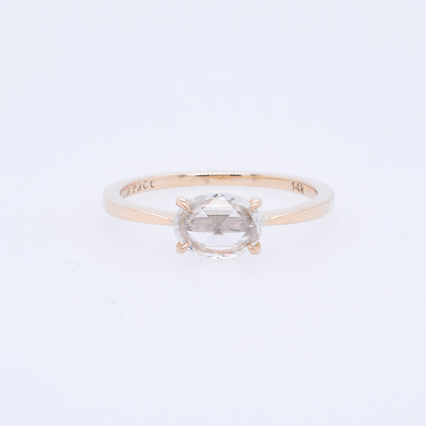 Oval .30ct Rose-Cut Diamond Engagement Ring