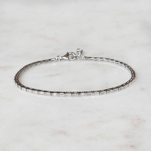 Baguette Diamond Tennis Bracelet