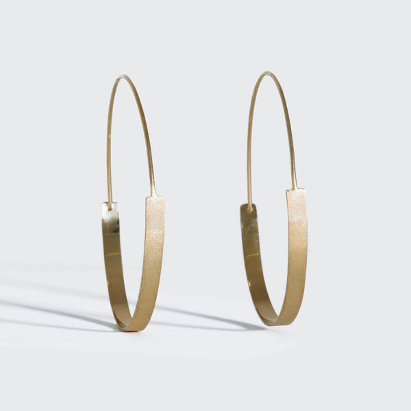 Gold Track Hoops