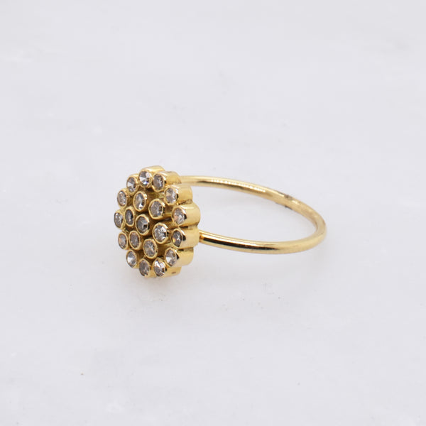 Floral Diamond Cluster Ring