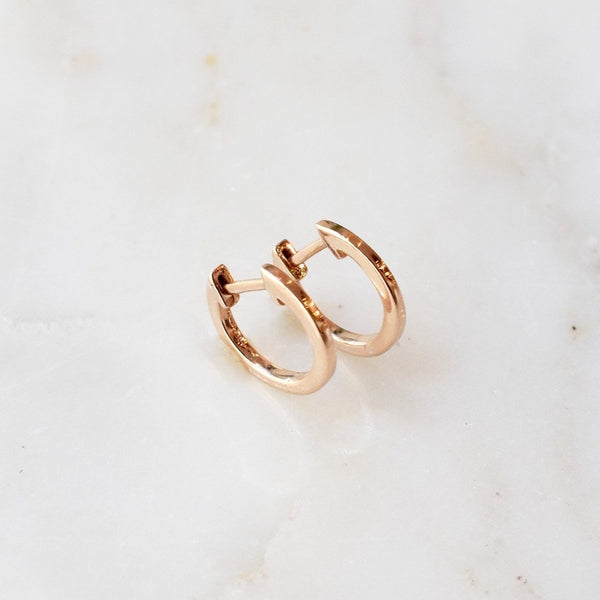Everyday Rose Gold Huggie Hoops