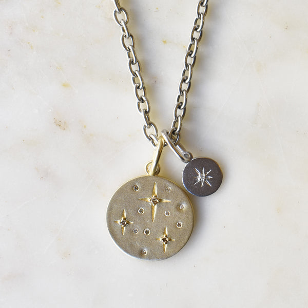 Constellation Double Charm Necklace