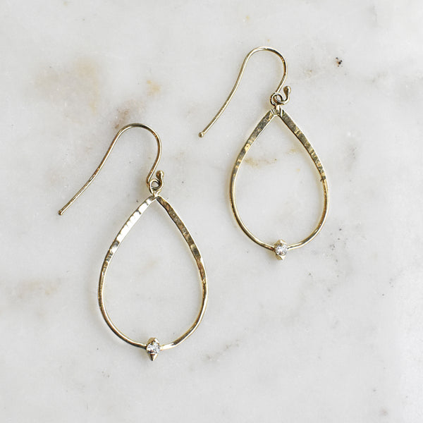Cypress Forged Diamond Teardrop Earrings