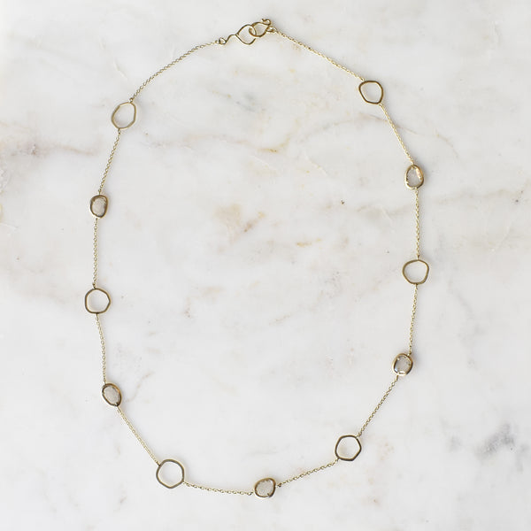 Diamond Slice Floater Necklace