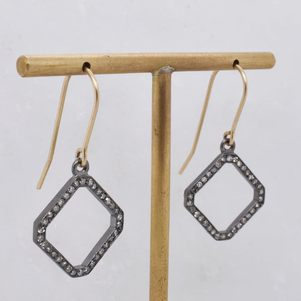 Pavé Diamond Border Earrings