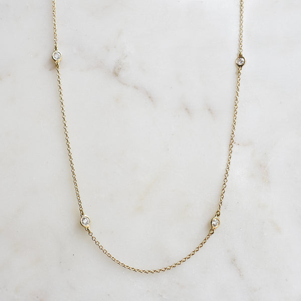 Essential Petite Diamond Station Necklace
