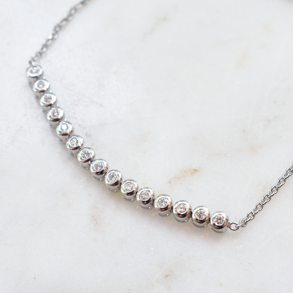 Diamond Pull-Tie Tennis Bracelet