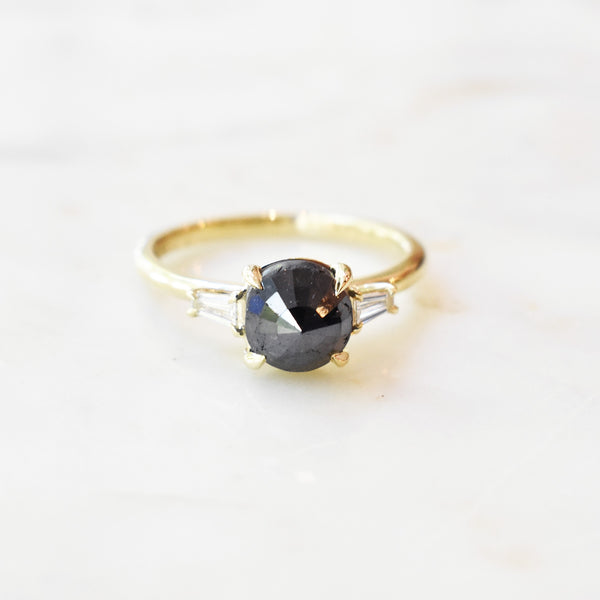 Noelle Rose Cut Black Diamond Ring