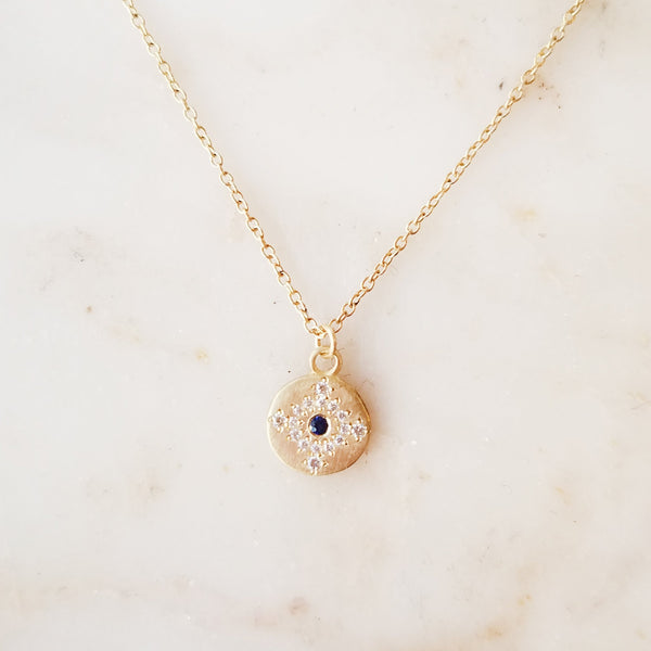 Petite Sapphire and Diamond Shimmer Necklace