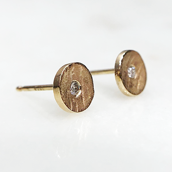 Cypress Textured Stud Earring