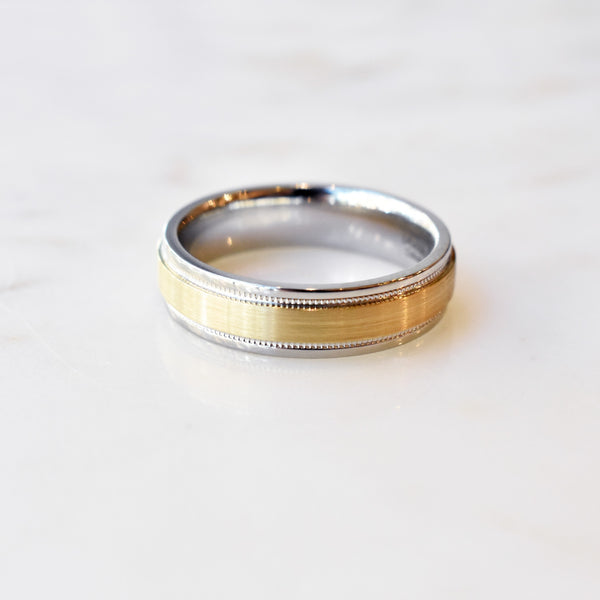 Cobalt Chrome Ring with Yellow Gold Inlay