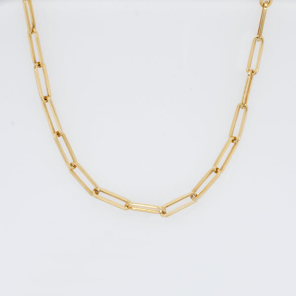 Heavy Link Paperclip Chain Necklace