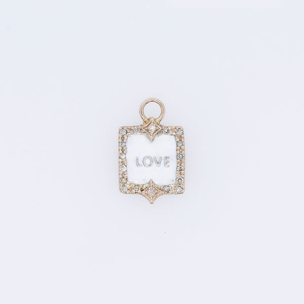 "Old World Petite ""Love"" Charm"