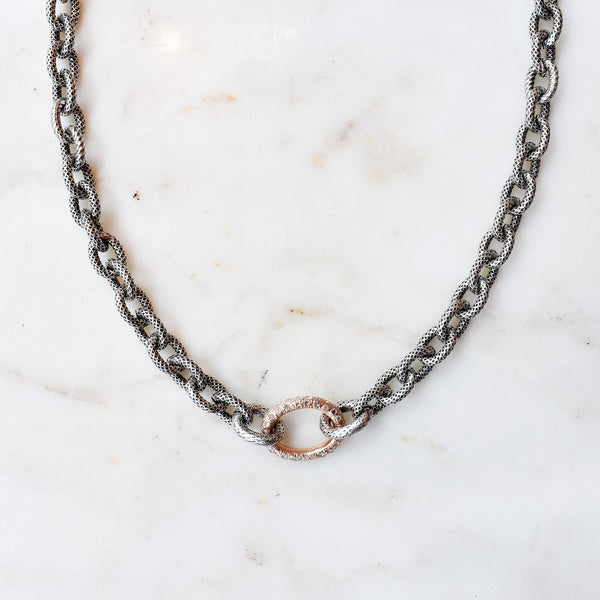 Rose Gold Link Choker Necklace