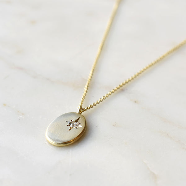 Oval North Star Diamond Necklace