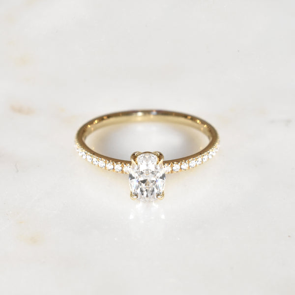 Oval Eleonore .80ct Engagement Ring