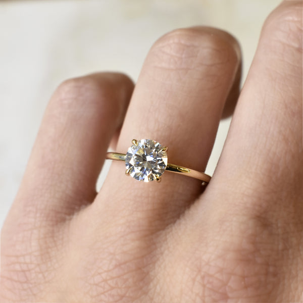 Emma Round 1.2ct Diamond Solitaire Engagement Ring