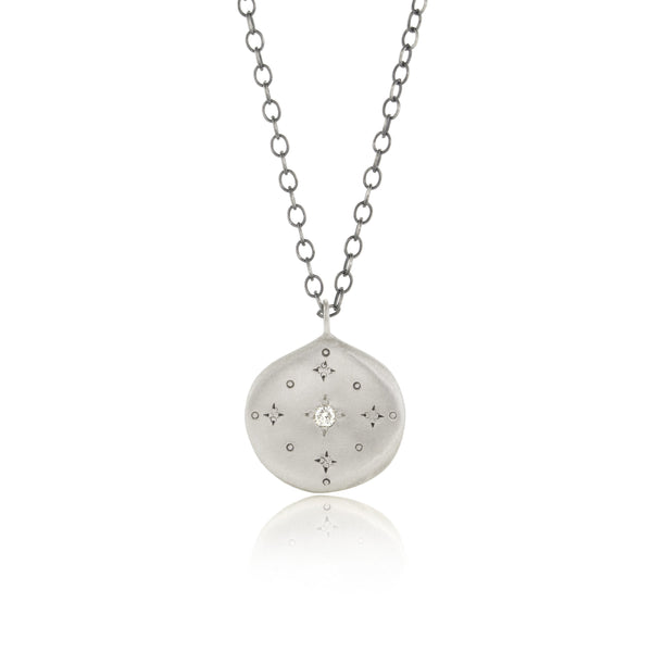 New Moon Necklace with Diamond