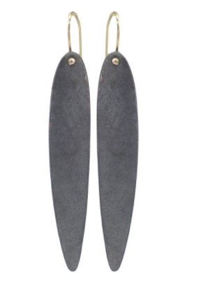Elongated Curved Drop Earrings