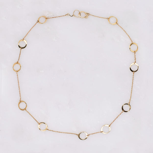 Eleven Circle Necklace