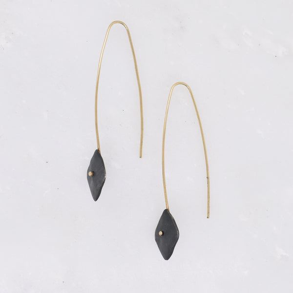 Oxidized Silver Kite Earrings