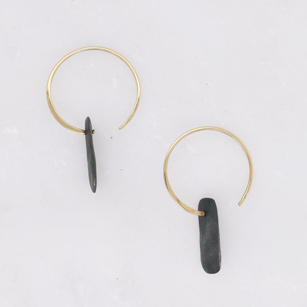 Rectangular Form Hoops