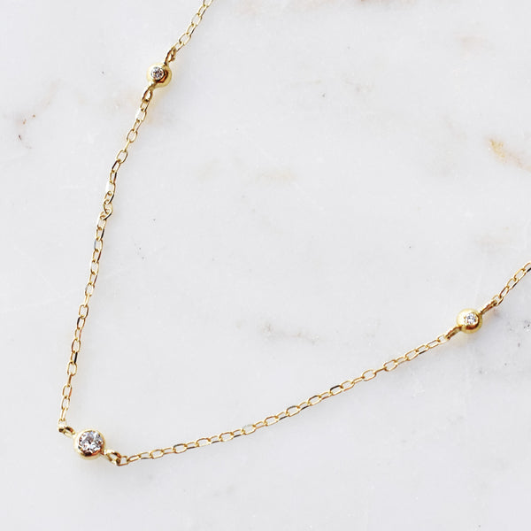 Diamond Floater Necklace