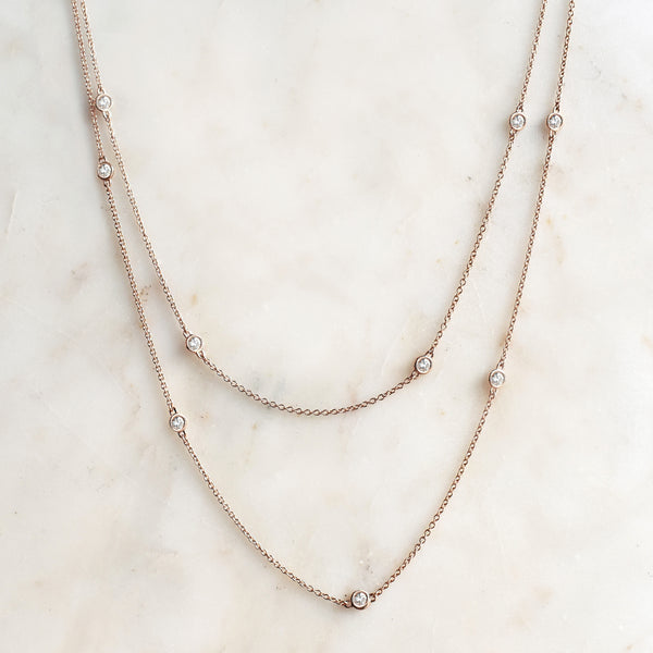 Essential Diamond Station Necklace